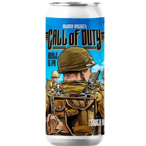 Cerveja Salvador Brewing Co Call Of Duty Double New England IPA Lata - 473ml