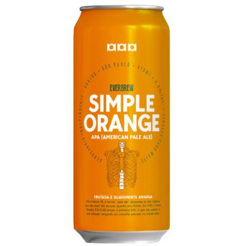 Cerveja EverBrew Simple Orange American Pale Ale Lata - 473ml