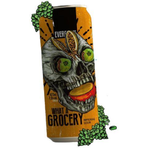 Cerveja EverBrew What A Grocery Imperial Sour C/ Manga, Maracujá e Goiaba Lata - 473ml