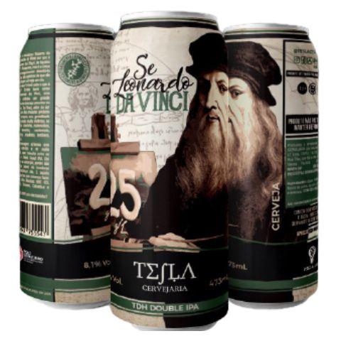 Cerveja Tesla Se Leonardo Da Vinci TDH Double IPA Lata - 473ml