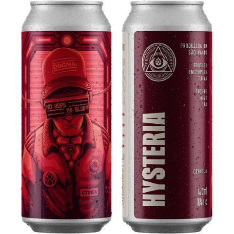 Cerveja Dogma Hysteria Triple Hazy IPA Lata - 473ml