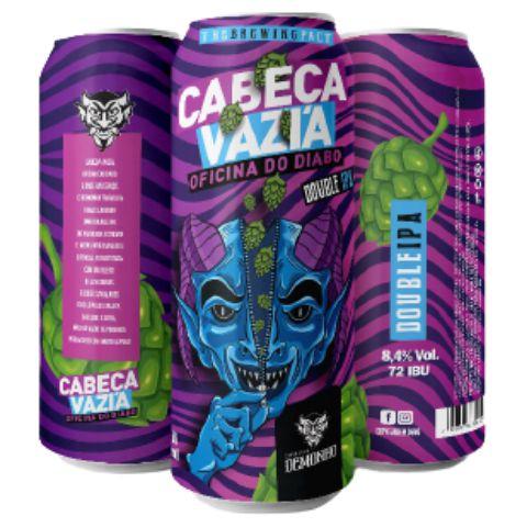 Cerveja Demonho Cabeça Vazia Oficina do Diabo Double IPA Lata - 473ml