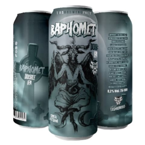 Cerveja Demonho Baphomet Double IPA Lata - 473ml