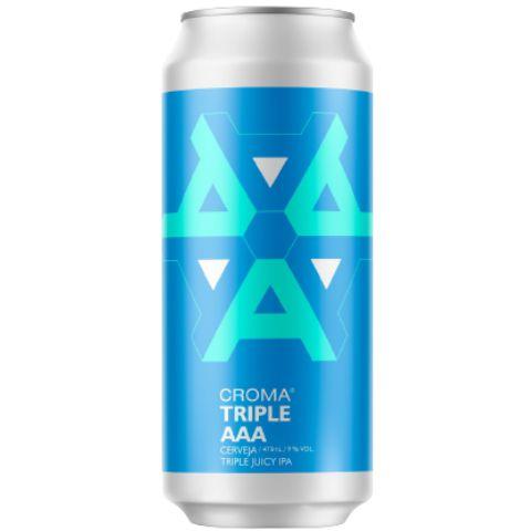 Cerveja Croma Triple AAA TDH Triple Juicy IPA Lata - 473ml