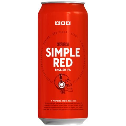 Cerveja EverBrew Simple Red English IPA Lata - 473ml