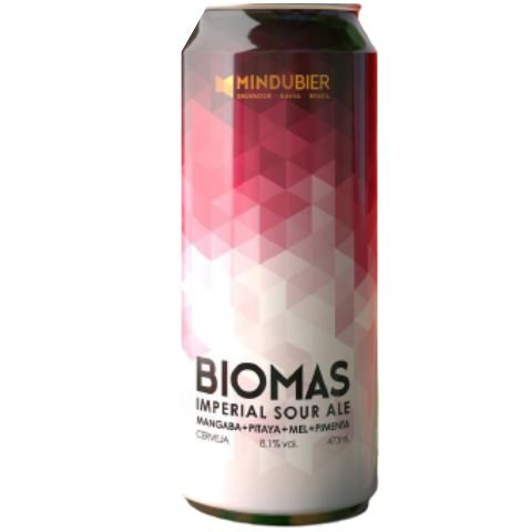 Cerveja MinduBier Biomas Mangaba + Pitaya + Mel + Pimenta Imperial Sour Ale Lata - 473ml