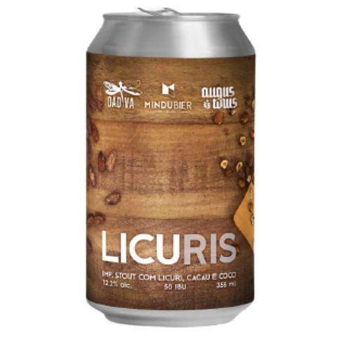 Cerveja Mindubier + Dádiva + Augustinus LicuRIS 2021 Imperial Stout C/ Licuri, Cacau e Coco Lata - 350ml