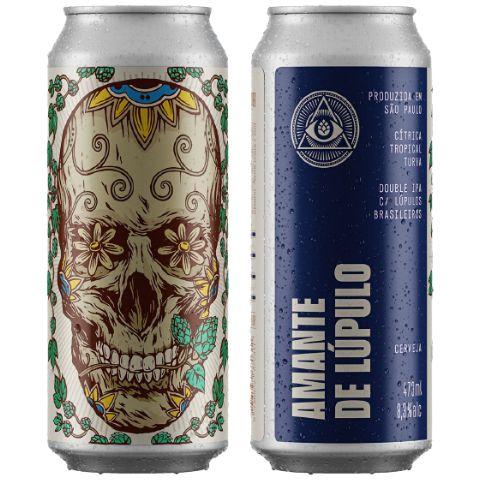 Cerveja Dogma Amante de Lúpulo Double IPA C/ Lúpulos Brasileiros Lata - 473ml