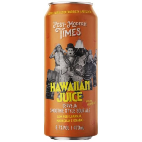 Cerveja Escafandrista Post Modern Times Hawaiian Juice Smoothie Sour Ale C/ POG (Goiaba, Maracujá e Laranja)  Lata - 473ml
