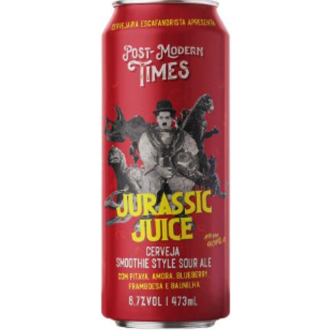 Cerveja Escafandrista Post Modern Times Jurassic Juice Smoothie Sour Ale C/ Pitaya, Amora, Blueberry, Framboesa e Baunilha,   Lata - 473ml