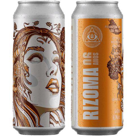 Cerveja Dogma Rizoma 6 Anos Double IPA Lata - 473ml