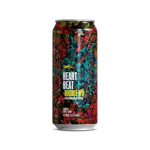 Cerveja Dádiva Heart Beat Double IPA Lata - 473ml