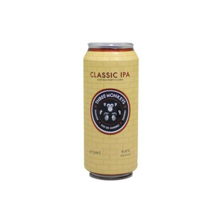 Cerveja Three Monkeys Classic IPA American IPA Lata - 473ml