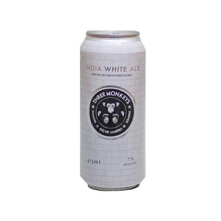 Cerveja Three Monkeys India White Ale White IPA Lata - 473ml