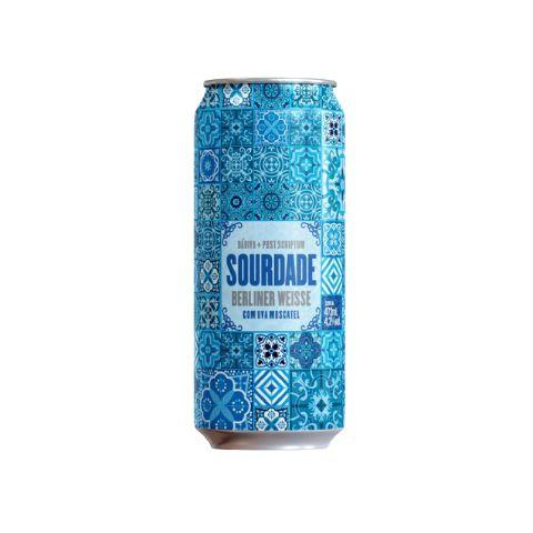 Cerveja Dádiva + Post Scriptum Sourdade Berliner Weisse c/ Uva Moscatel Lata - 473ml