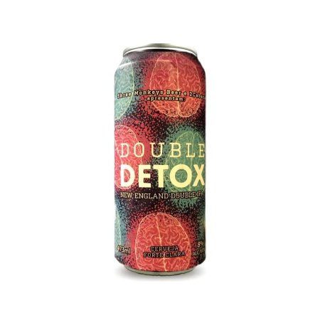Cerveja Three Monkeys & 2 Cabeças Double Detox New England Double IPA Lata - 473ml