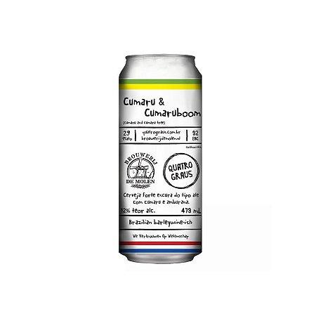 Cerveja Quatro Graus & De Molen Cumaru & Cumaruboom Brazilian BarleyWine Lata - 473ml