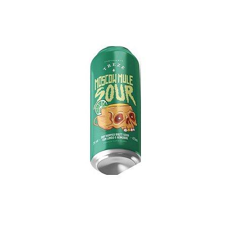 Cerveja Treze Moscow Mule Sour Dry Hopped Sour Ale C/ Limão e Gengibre Lata - 473ml