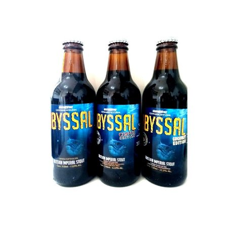 Kit Cerveja 5 Elementos Abyssal Russian Imperial Stout (Regular, Coffee e Coconut) 3 Garrafas - 310ml