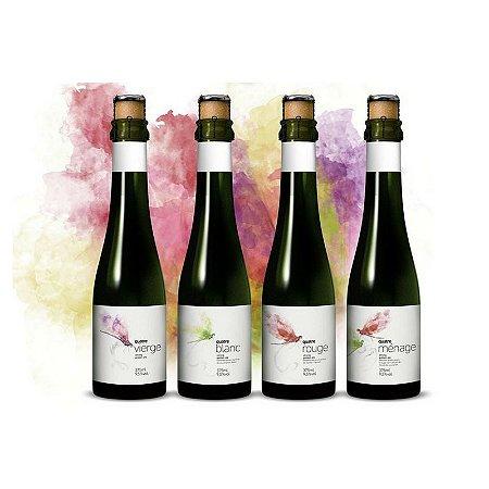 Kit Cerveja Dádiva Quatre (Vierge, Blanc, Rouge e Ménage) Strong Golden Ale 4 garrafas - 375ml