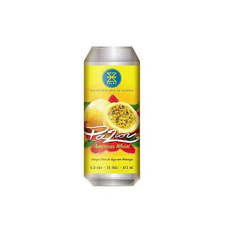 Cerveja Zalaz Pazion American Wheat C/ Maracujá Lata - 473ml