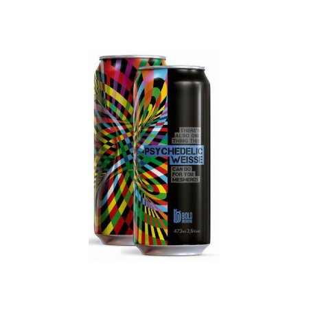 Cerveja Bold Brewing Psychedelic Weisse Berliner Weisse C/ Pitaya e Goiaba Lata - 473ml