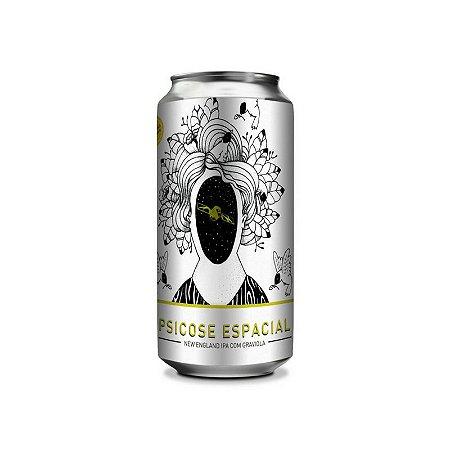 Cerveja Satélite & Doktor Bräu Psicose Espacial New England IPA C/Graviola Lata - 473ml