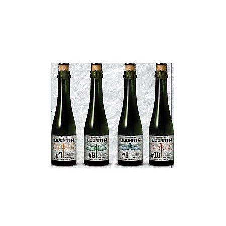 Kit Cerveja Dádiva Odonatas #7 Jaqueira, 8#Jequitibá, 9# Bálsamo, #10 Amburana Russian Imperial Stout Barrel Aged 4 garrafas - 375ml