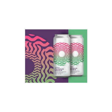 Cerveja Croma Pitaya Waves Berliner Weisse C/ Pitaya, Goiaba e Uva Bordô Lata - 473ml