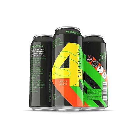 Cerveja Infected Brewing, Demonho, Molinarius & Sunny Brew Demon Mill Quad IPA Lata - 473ml