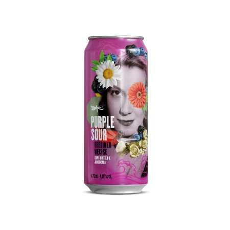 Cerveja Dádiva Purple Sour Berliner Weisse C/ Mirtilo e Jabuticaba - Lata 473ml