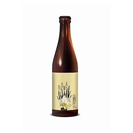 Cerveja Dádiva & 2 Cabeças Bioma Russian Imperial Stout C/ Castanha de Baru e Baunilha do Cerrado - 500ml