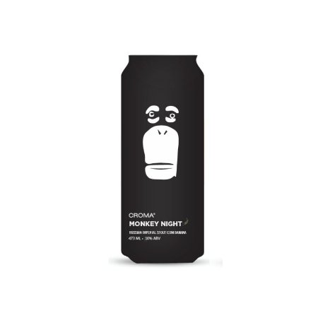 Cerveja Croma Monkey Night Coco Edition Russian Imperial Stout - Lata 473ml
