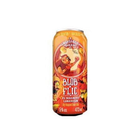 Cerveja Juan Caloto & Freaktion Blob & Flic El Magrito Laranjón Dry Hopped Sour Ale Lata - 473ml