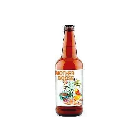 Cerveja 5 Elementos + Octopus Mother Goose Imperial Gose C/ Manga, Coco Queimado e Sal do Himalaia - 500ml