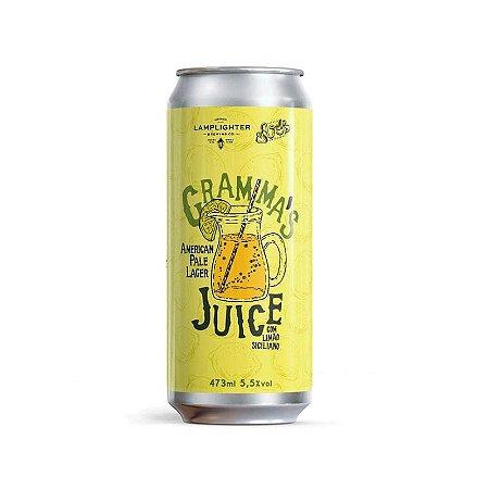 Cerveja Avós + Lamplighter Brewing Gramma's Juice New England American Pale Lager C/ Limão Siciliano Lata - 473ml