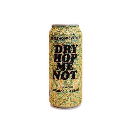 Cerveja Three Monkeys Dry Hop Me Not Double IPA Lata - 473ml
