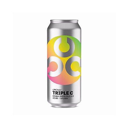 Cerveja Croma Triple C Double IPA Lata - 473ml