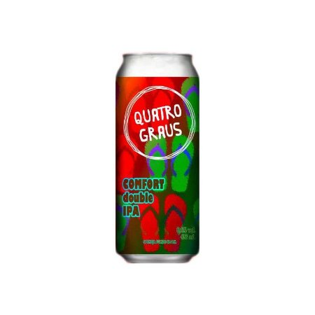 Cerveja Quatro Graus Comfort Double IPA Lata - 473ml