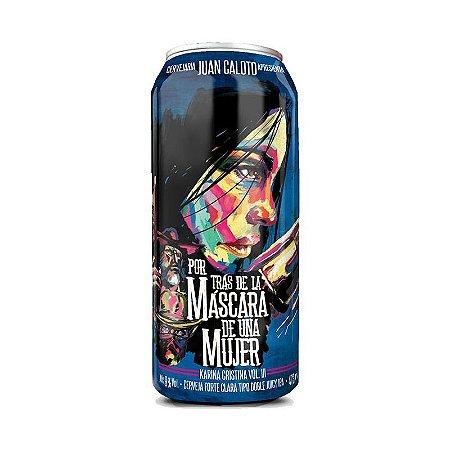 Cerveja Juan Caloto Por Trás de La Máscara de Una Mujer - Karina Cristina III Double New England IPA Lata - 473ml