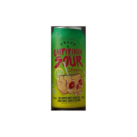 Cerveja Treze Caipirinha Sour 3 Limões Dry Hopped Brett Sour Ale C/ Limão Tahiti, Cravo e Siciliano Lata - 473ml