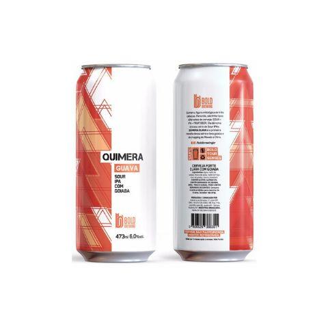 Cerveja Bold Brewing Quimera Guava Sour IPA C/ Goiaba Lata - 473ml
