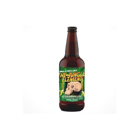 Cerveja 5Elementos + Three Monkeys The Jungle Element Russian Imperial Stout C/ Doce de Banana - 500ml