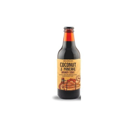 Cerveja 5 Elementos Coconut & Pancake Brunch Stout Imperial Oatmeal Stout C/ Lactose, Maple e Coco - 310ml