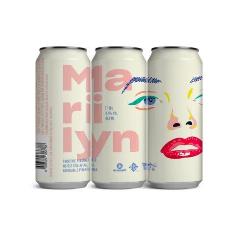Cerveja Dádiva + Japas + Hildegard Project Marilyn Smoothie Berliner Weisse C/ Aveia, Baunilha e Pitanga Lata - 473ml