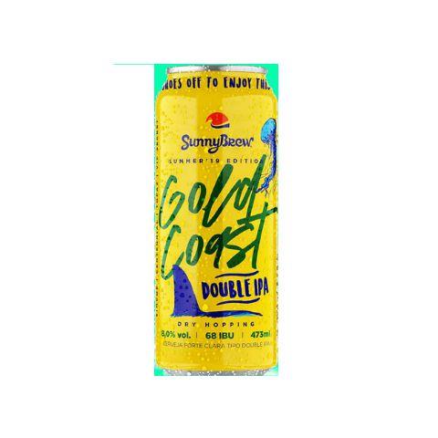 Cerveja SunnyBrew Gold Coast Double IPA Lata - 473ml