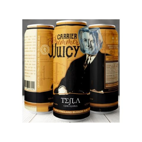 Cerveja Tesla Carrier Summer Juicy Hazy Blonde Ale Lata - 473ml