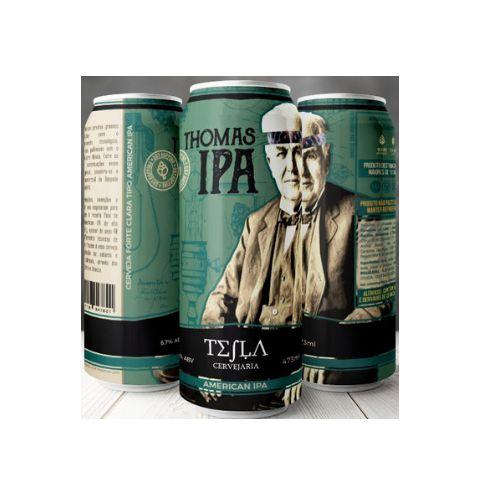 Cerveja Tesla Thomas IPA West Coast IPA Lata - 473ml