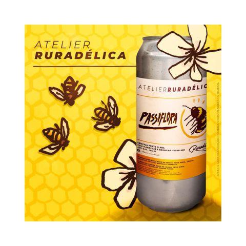 Cerveja Ruradélica Ales Atelier #6 Passiflora Sour Ale C/ Maracujá e Baunilha Lata - 473ml
