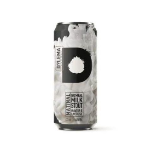 Cerveja Dilema Matinal Oatmeal Milk Stout Lata - 473ml